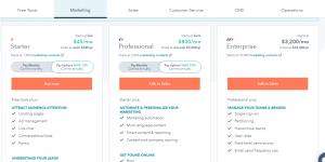 Hubspot pricing plans