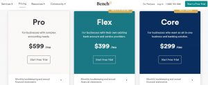 Bench pricing plans new