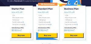 Hostgator WordPress hosting pricing plans