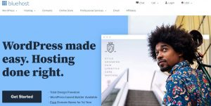 Bluehost web hosting site