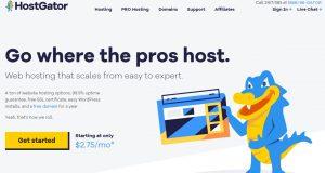 HostGator main website